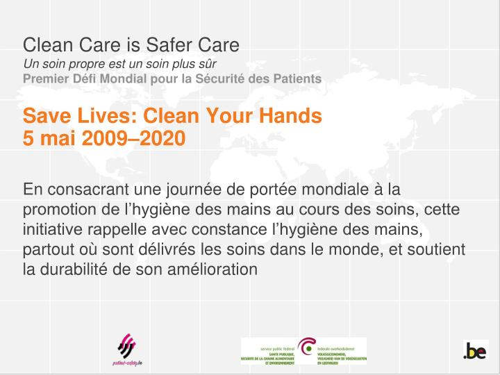 Clean Care is Safer Care