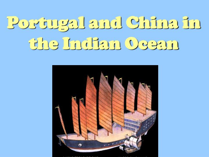 portugal and china in the indian ocean n.