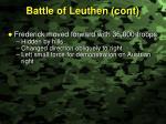 battle of leuthen cont