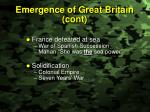 emergence of great britain cont