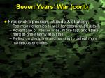 seven years war cont