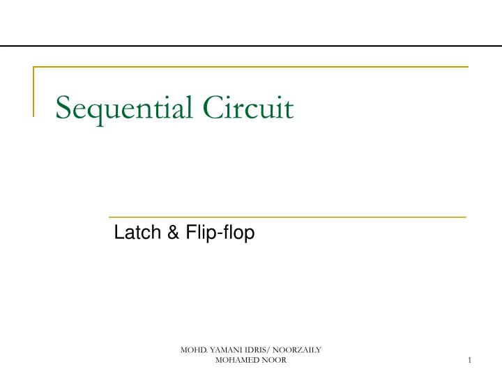 sequential circuit n.