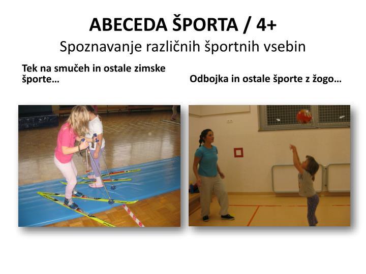 ABECEDA ŠPORTA / 4+