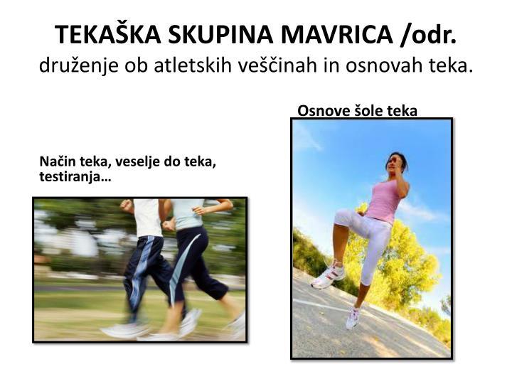 TEKAŠKA SKUPINA MAVRICA /