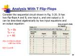 analysis with t flip flops1