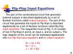 flip flop input equations