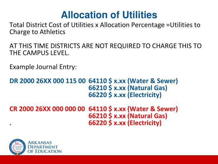 Allocation of Utilities
