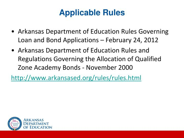 Applicable Rules