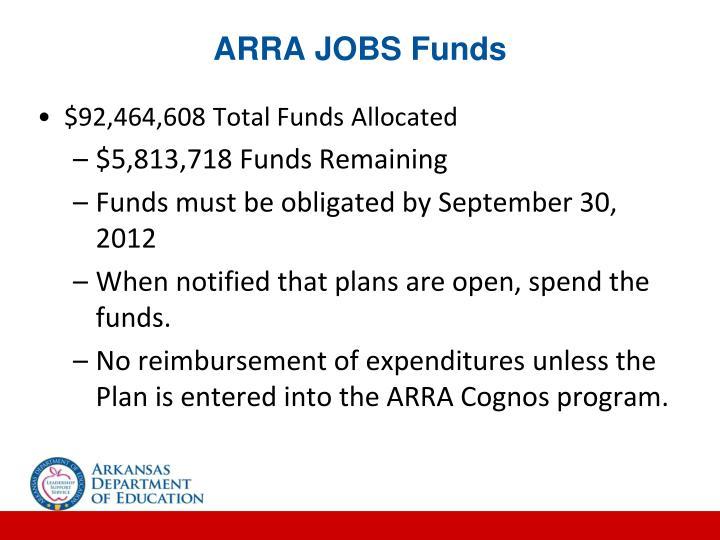ARRA JOBS Funds
