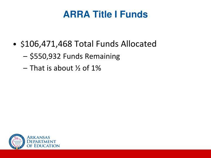 ARRA Title I Funds
