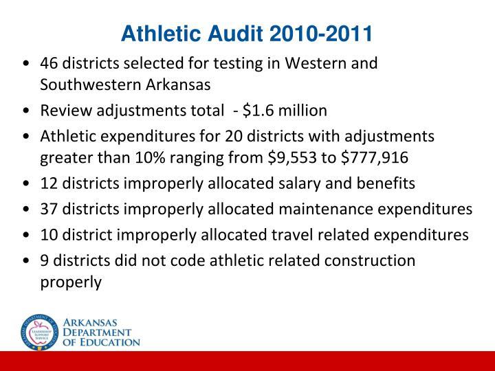 Athletic Audit 2010-2011