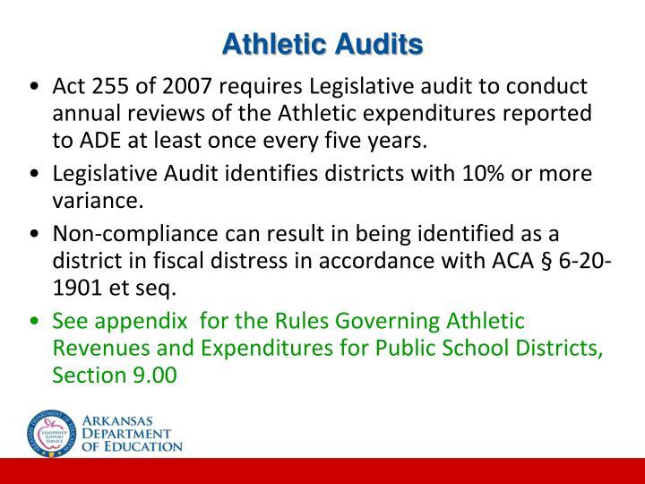 Athletic Audits