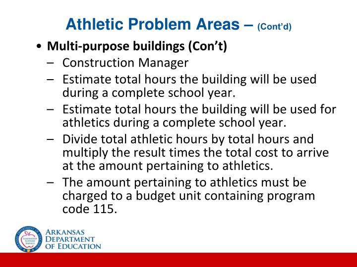 Athletic Problem Areas –