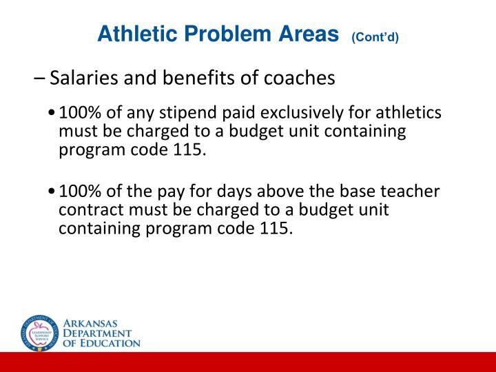 Athletic Problem Areas