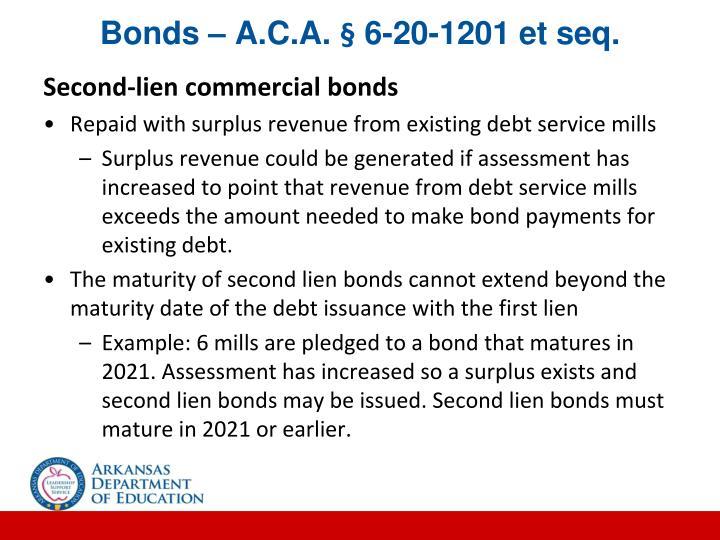 Bonds – A.C.A. § 6-20-1201 et seq.
