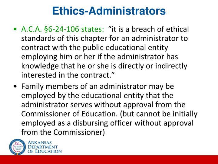 Ethics-Administrators
