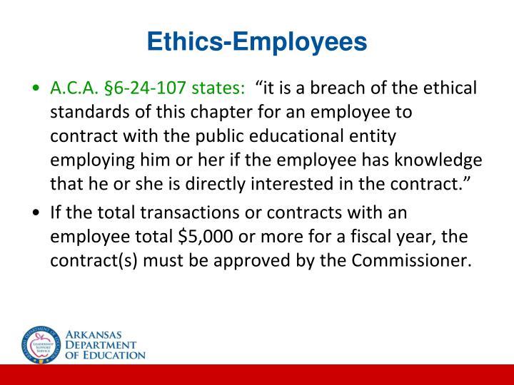 Ethics-Employees