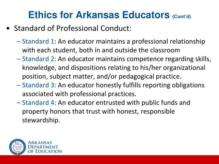 Ethics for Arkansas Educators