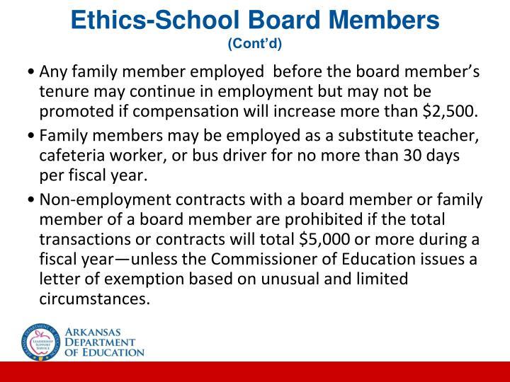 Ethics-School Board Members
