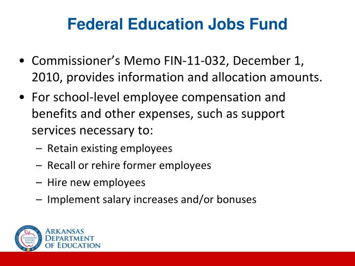 Federal Education Jobs Fund