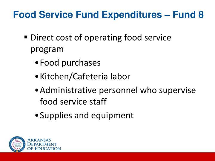Food Service Fund