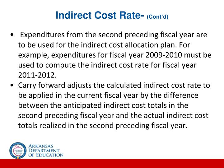 Indirect Cost Rate-