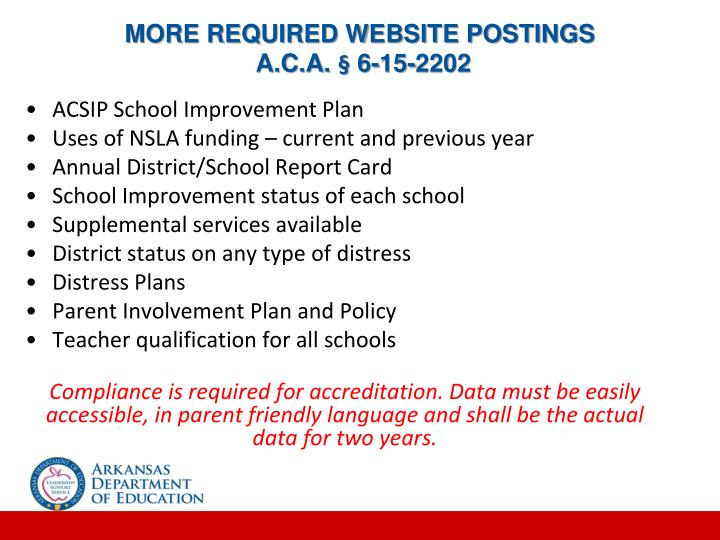 MORE REQUIRED WEBSITE POSTINGS