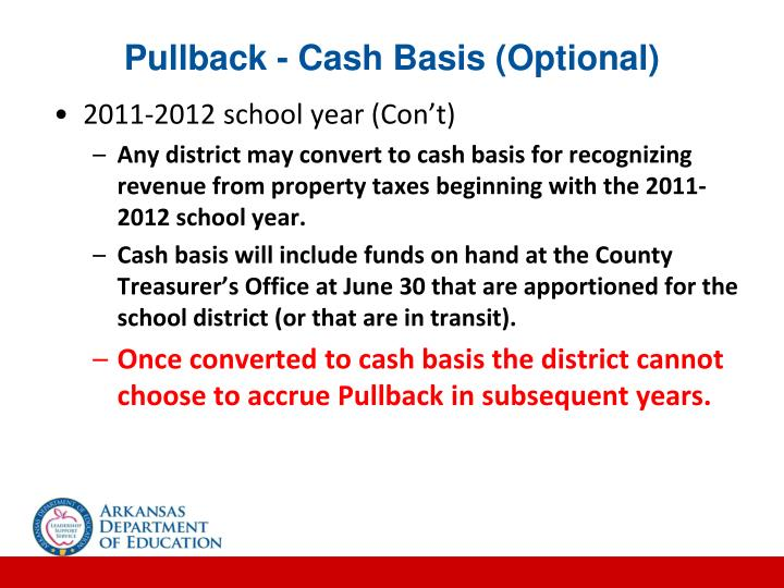 Pullback - Cash Basis (Optional)