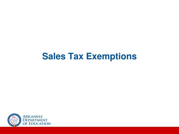 Sales Tax Exemptions