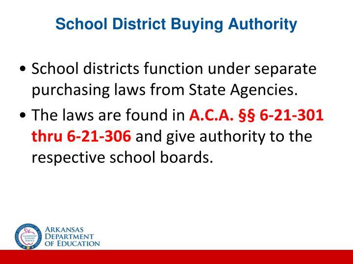 School District Buying Authority