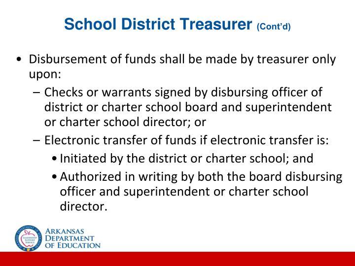 School District Treasurer