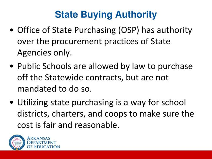 State Buying Authority