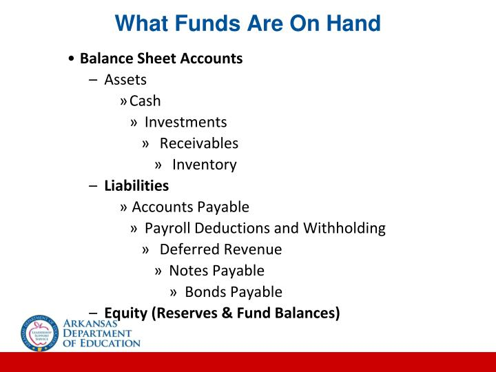 What Funds Are On Hand