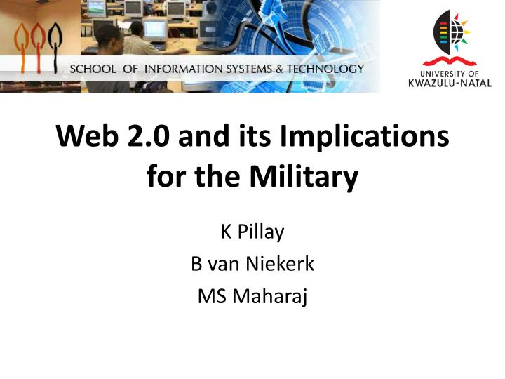 web 2 0 and its implications for the military