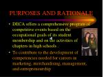 purposes and rationale