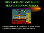 restaurant and food service management1