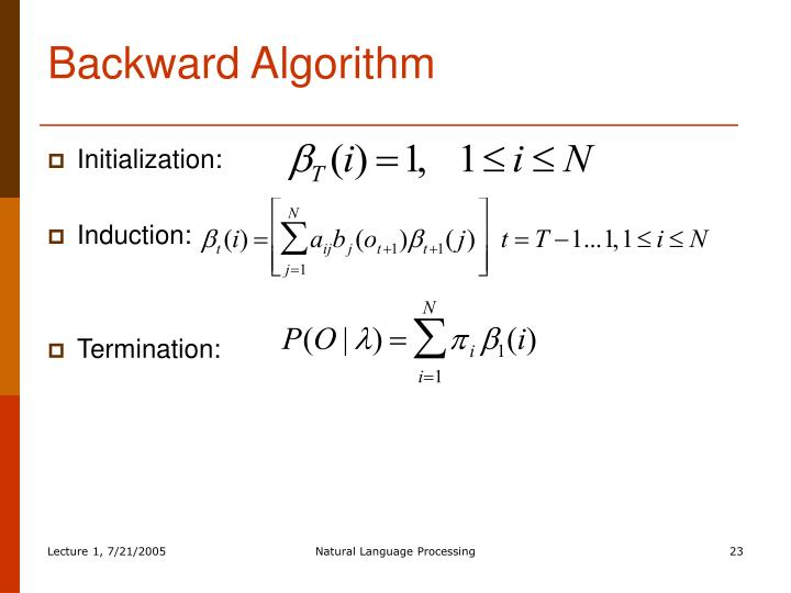 Backward Algorithm
