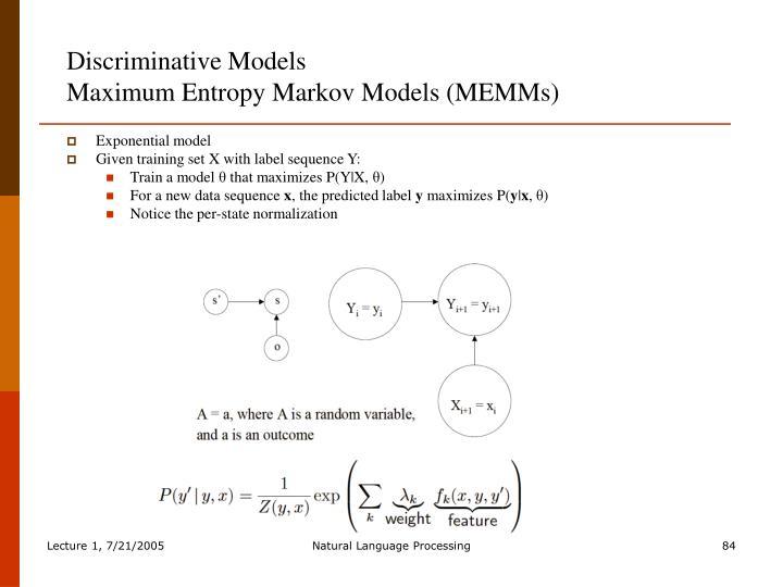Discriminative Models