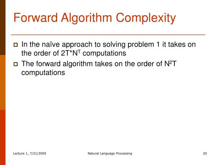 Forward Algorithm Complexity