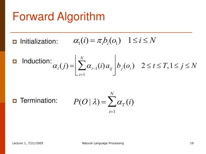 Forward Algorithm