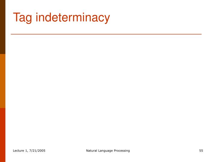 Tag indeterminacy