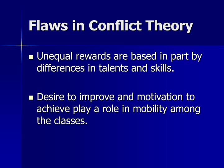Flaws in Conflict Theory