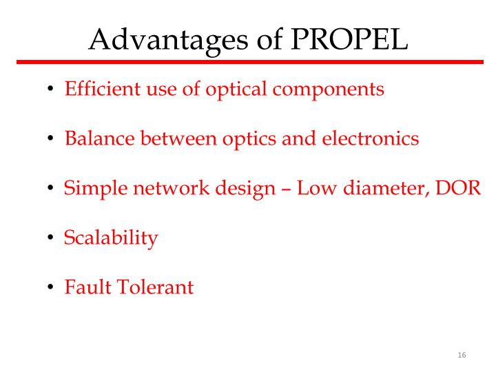 Advantages of PROPEL