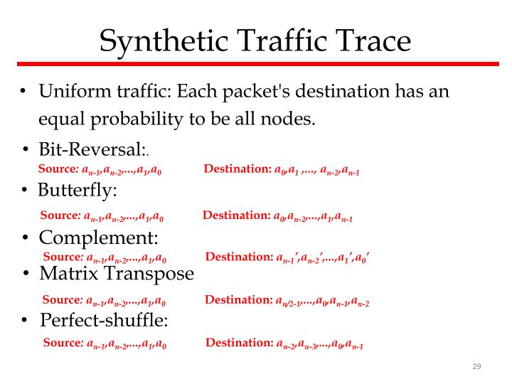 Synthetic Traffic Trace
