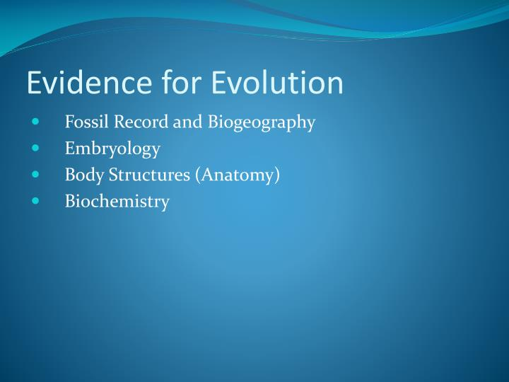 Ppt Evidence For Evolution Powerpoint Presentation Id1783863