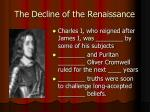 the decline of the renaissance