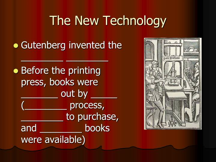 The New Technology
