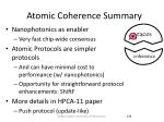 atomic coherence summary