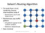 valiant s routing algorithm