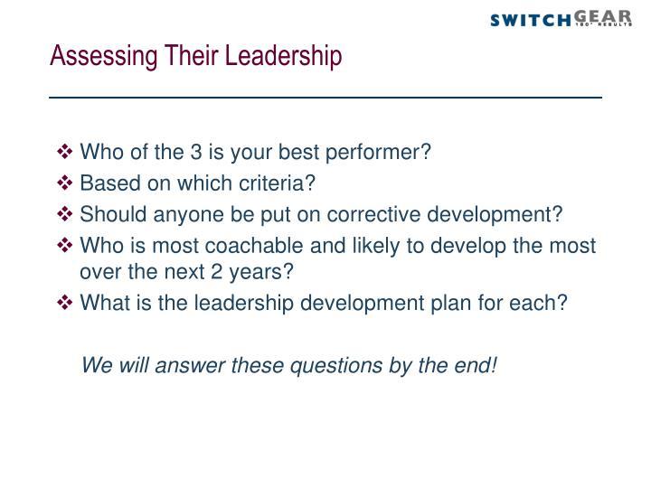 Assessing Their Leadership